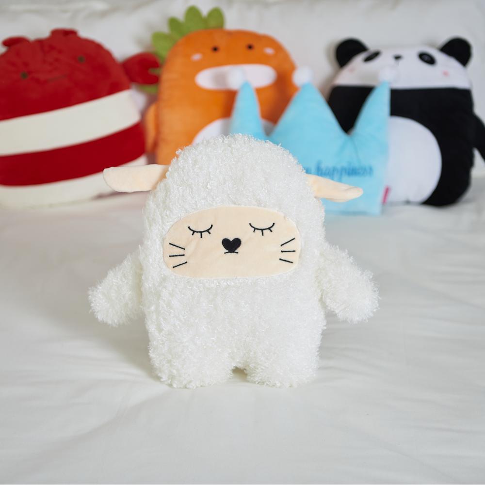 Selay Toys Sheep Figürlü Yastık - Beyaz - 35 cm