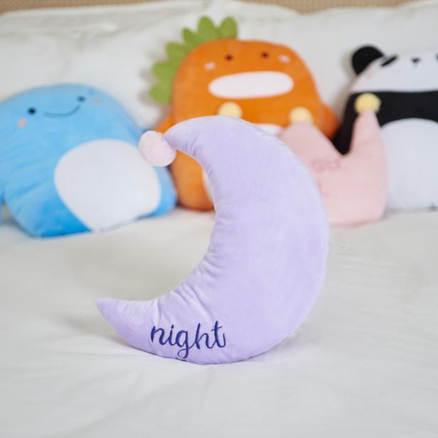 Selay Toys Night Figürlü Yastık - Mor - 35 cm