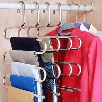 Akse 5 Katlı Metal Pantolon Askısı