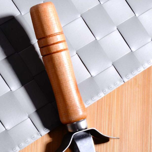 Kitchen Life Bambu Saplı Pizza ve Hamur Kesici - Bej - 17 cm