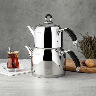 Nehir Modern Midi Çaydanlık - Siyah