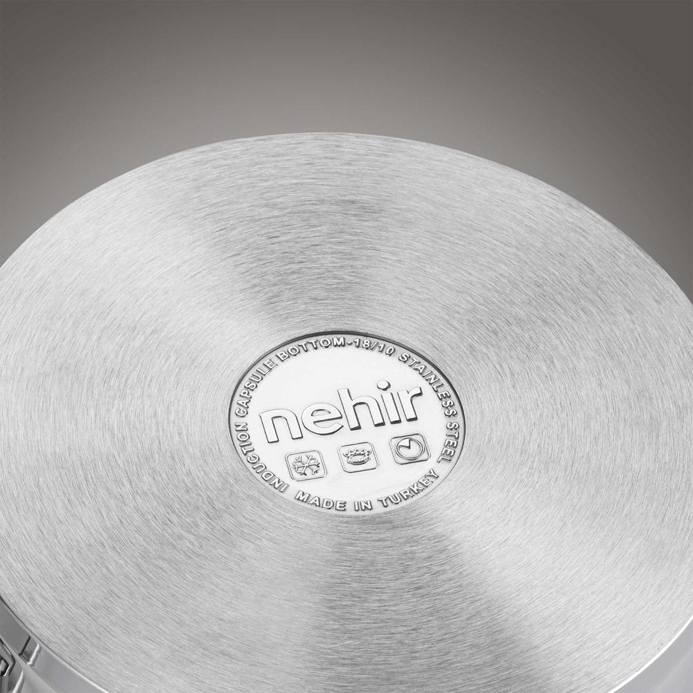 Nehir Silver Trend Derin Tencere - 24 cm