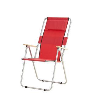 Simple Living Ahşap Kollu Geniş Katlanır Kamp, Plaj ve Piknik Sandalyesi - Kırmızı