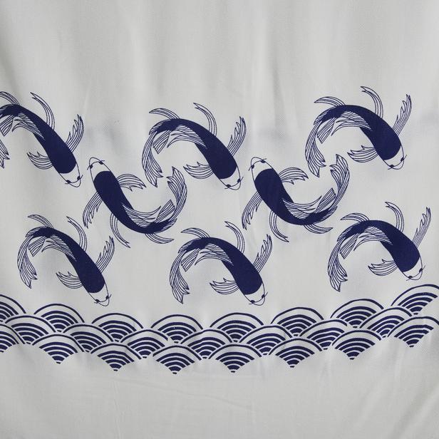 Nuvomon Blue Fish Baskılı Peştamal 90x170 cm