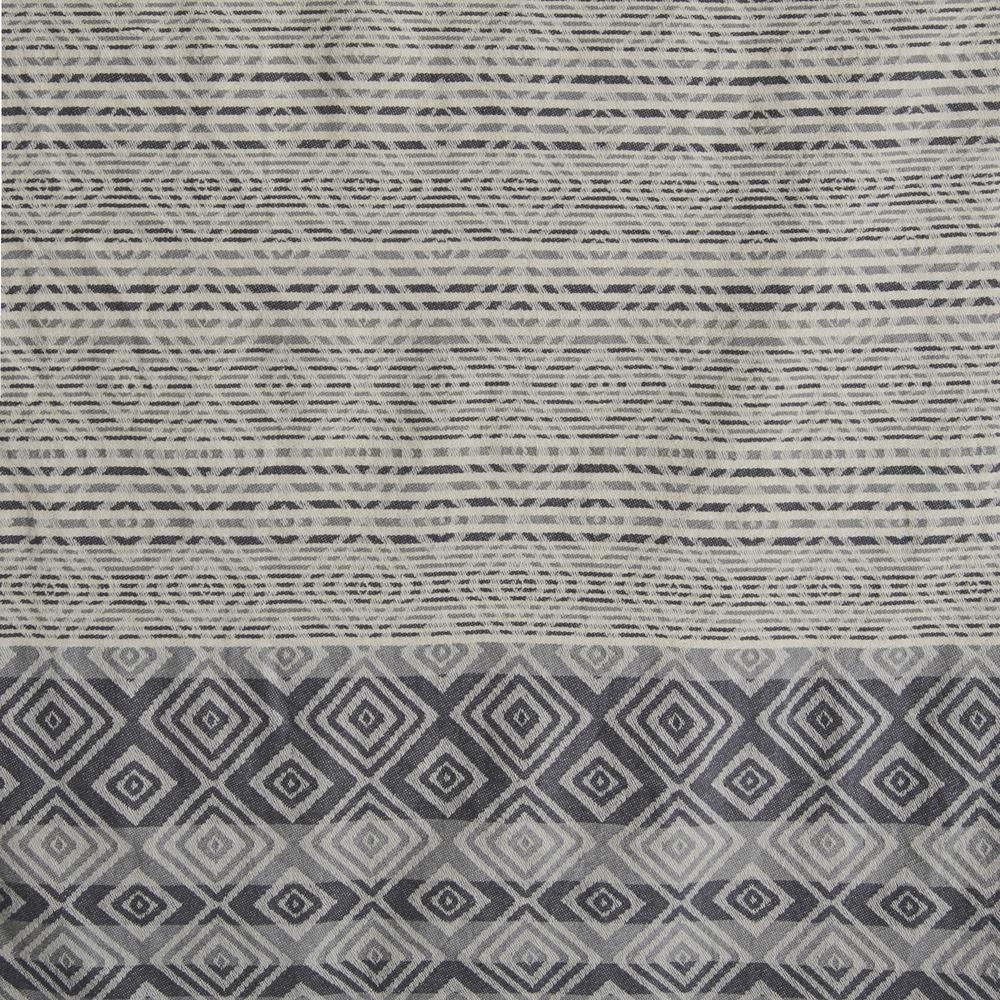 Nuvomon Ethnic Jakarlı Peştamal (Gri) - 90x170 cm
