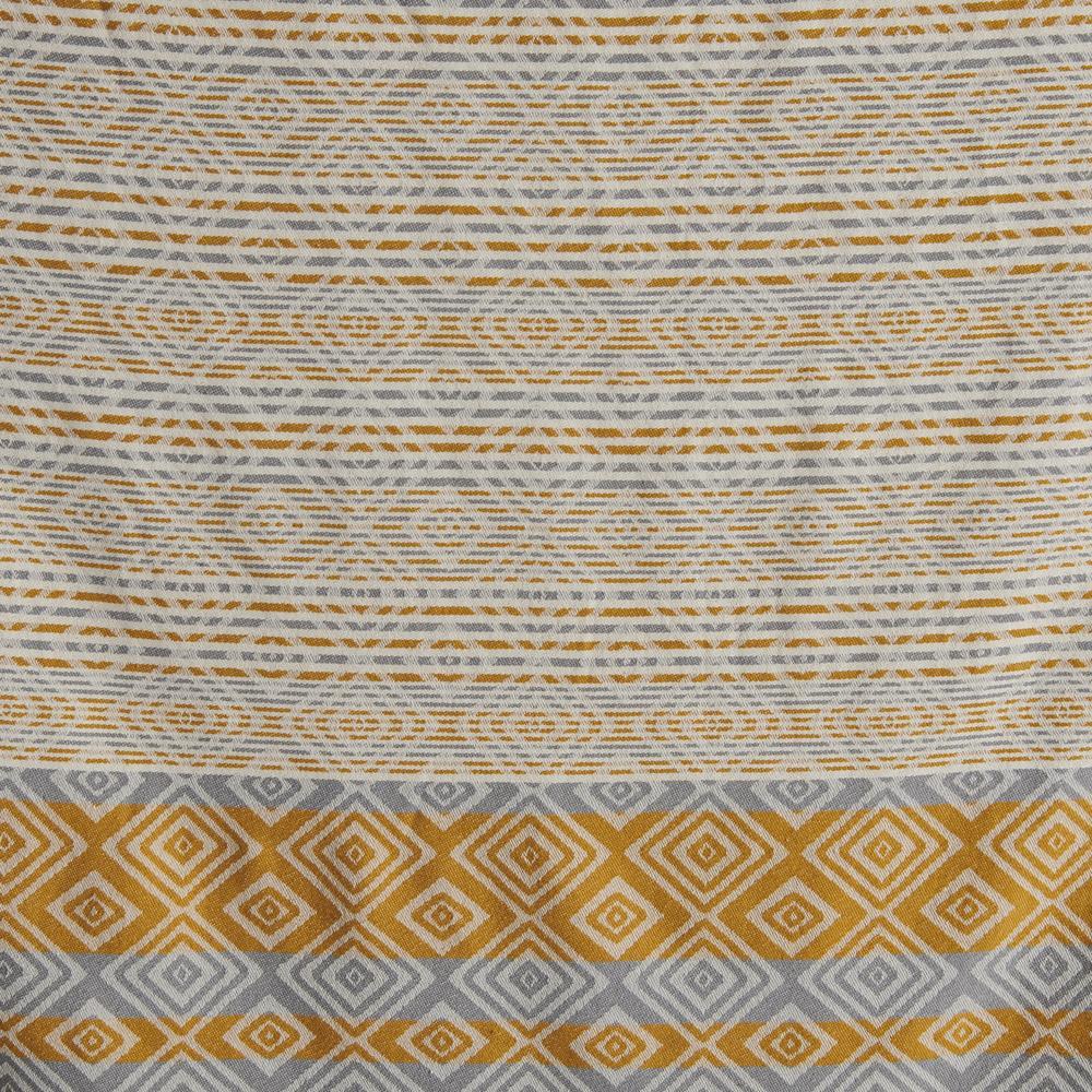 Nuvomon Ethnic Jakarlı Peştamal (Sarı) - 90x170 cm