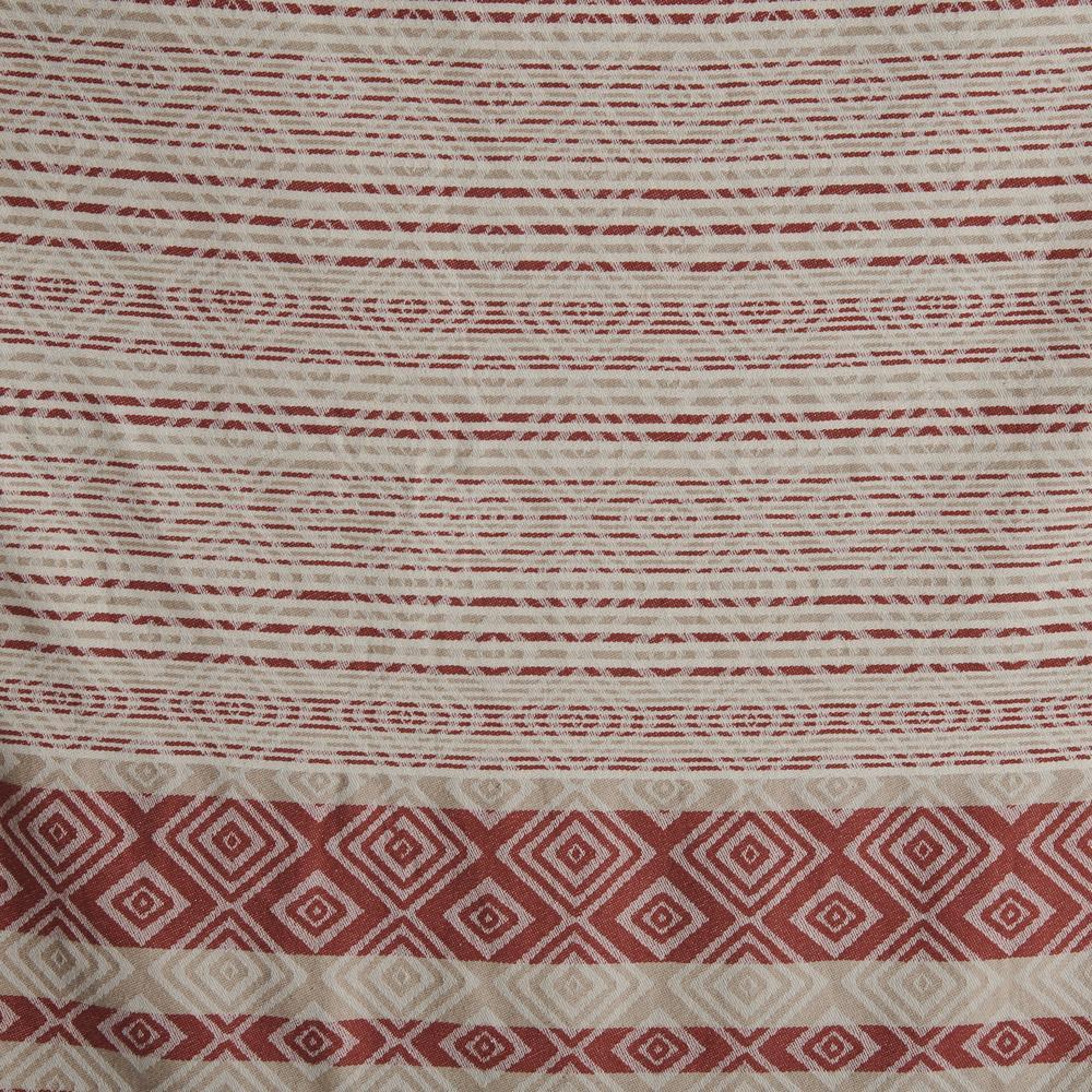 Nuvomon Ethnic Jakarlı Peştamal - Kiremit - 90x170 cm