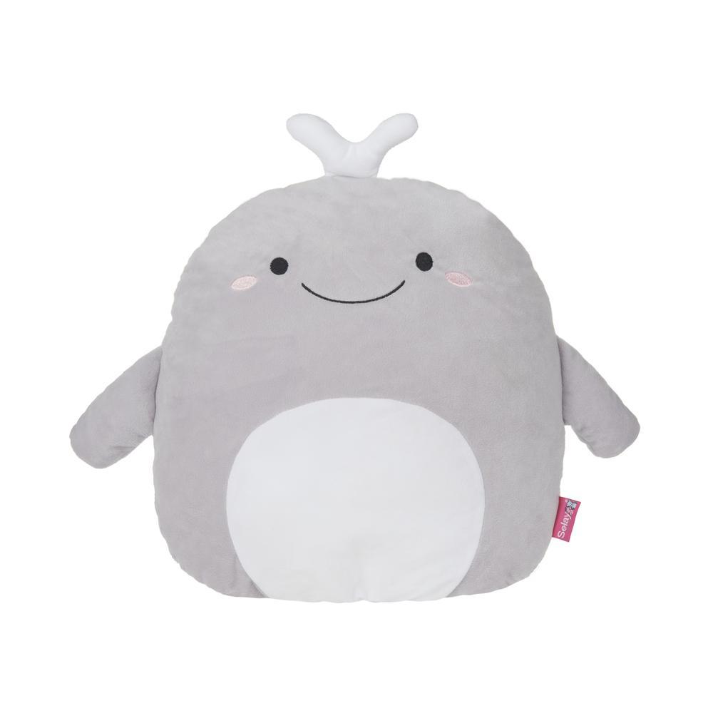 Selay Toys Whale Figürlü Yastık - Gri - 40 cm