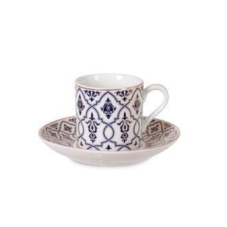İpek Pars 12 Parça Porselen Kahve Fincan Seti