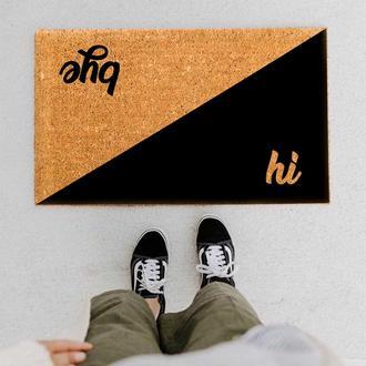 Giz Home Hi - Bye Koko Kapı Önü Paspası -33x55 cm