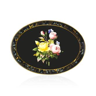 İpek Çiçek Tepsi - 41x30 cm