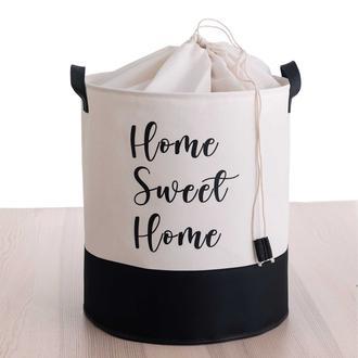 Rope Home Altı Deri Çamaşır Sepeti - Beyaz