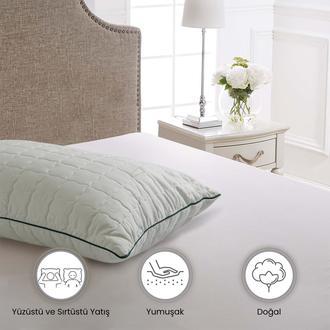 Kupon Bambu Yastık (Beyaz) - 50x70 cm