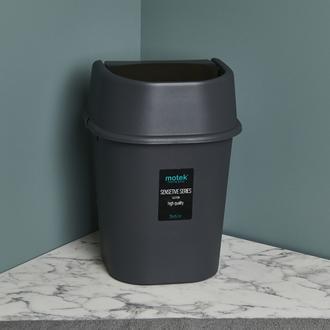 Motek Hassas Kapaklı Çöp Kovası - Antrasit - 6 lt