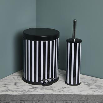 Dibanyo Banyo 2'li Banyo Seti (Siyah/Beyaz) - 5 lt