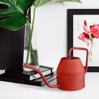 The Mia Çiçek Sulama Kabı 1,2 Litre - Kırmızı