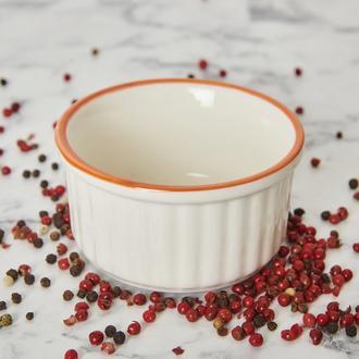 Tulu Porselen Klasik Suffle Kase - Turuncu - 10 cm