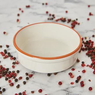 Tulu Porselen Fırın Kabı - Turuncu - 10 cm