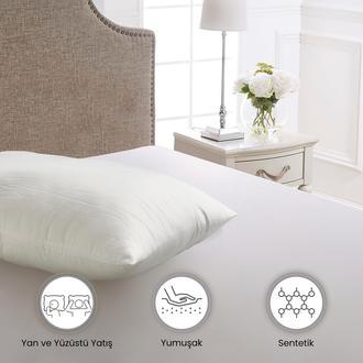 Viadante Mikrofiber Yastık - 50x70 cm - Beyaz