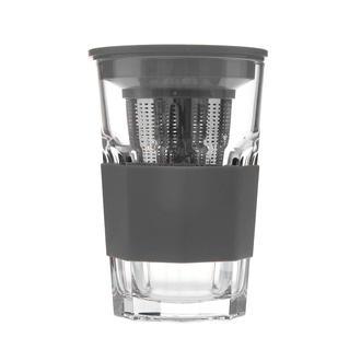 Paşabahçe 52709 Zest Glass Süzgeçli Bardak - Gri - 415 Ml