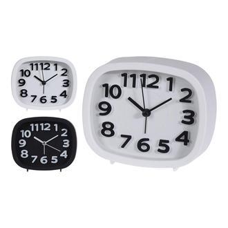 Q-Art  Alarmlı  Masa Saatı Siyah