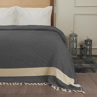 Nuvomon Harriet Çift Kişilik Yatak Örtüsü - Siyah - 220x235 cm