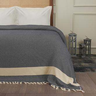 Nuvomon Harriet Çift Kişilik Yatak Örtüsü - Füme - 220x235 cm