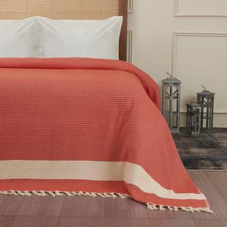 Nuvomon Harriet Çift Kişilik Yatak Örtüsü - Kiremit - 220x235 cm