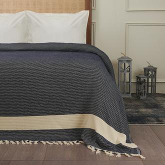 Nuvomon Harriet Çift Kişilik Yatak Örtüsü - Lacivert - 220x235 cm