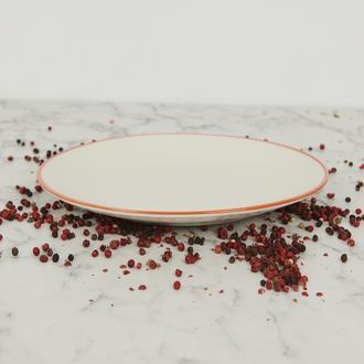 Tulu Porselen Turuncu Servis Tabağı - 24 cm