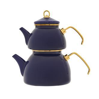 Taşev Şehzade Emaye Çaydanlık - Lacivert