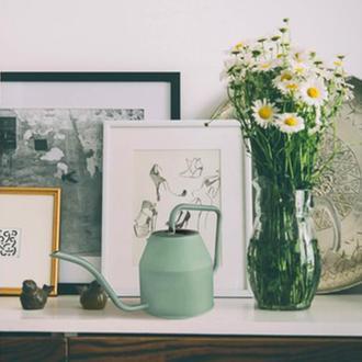 The Mia Çiçek Sulama Kabı 1,2 Litre - Yeşil