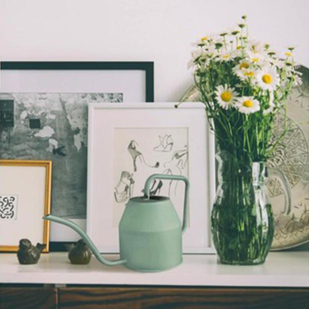 The Mia Çiçek Sulama Kabı - Yeşil - 1,2 Litre