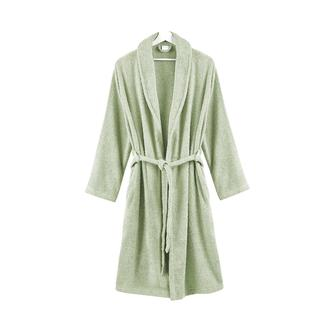Nuvomon Kadın Şal Yaka Bornoz - Yeşil - L / XL