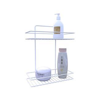 Metaltex Linea Bianco 2 Katlı Banyo Duş Rafı Beyaz