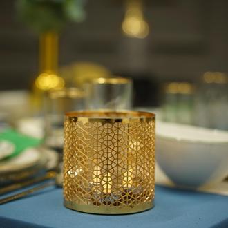 Angdesign Celine Dekoratif Metal Mumluk - Altın
