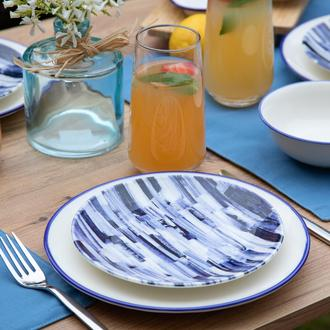 Tulu Porselen Blue Line Tatlı Tabağı-19 cm