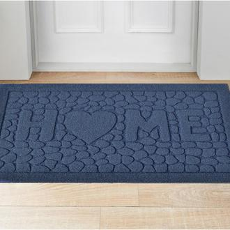 Giz Home Parga Mavi Taş Home Kapı Önü Paspası 40x60 cm - Mavi