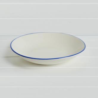 Tulu Porselen Blue Servis Tabağı - 19 cm