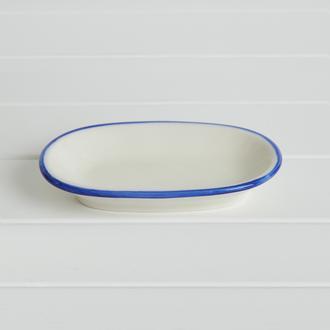 Tulu Porselen Blue Kayık Tabak - 12 cm