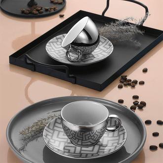 Kütahya Porselen 11328 Zeugma 4 Parça Kahve Fincan Seti