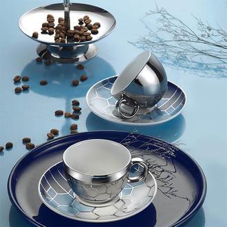 Kütahya Porselen 11327 Zeugma 4 Parça Kahve Fincan Seti