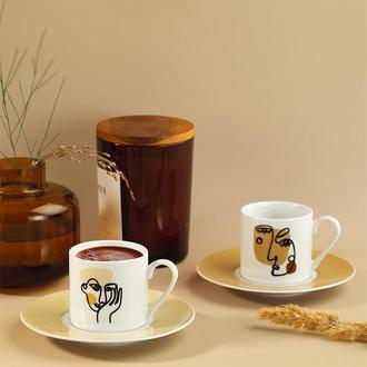 Kütahya Porselen 11369 Rüya 4 Parça Kahve Fincan Seti