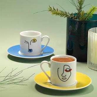 Kütahya Porselen 11335 Rüya 4 Parça Kahve Fincan Seti