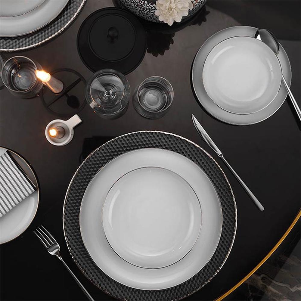 Kütahya Porselen Mood Platin File 24 Parça Yemek Takımı