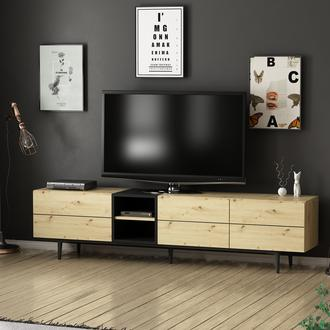 Minar Vesta Tv Ünitesi  - Artisan/Siyah