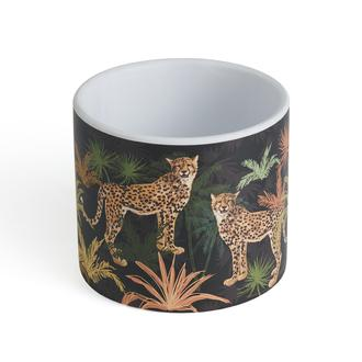 Q-Art Cheetah Desenli Dekoratif Saksı
