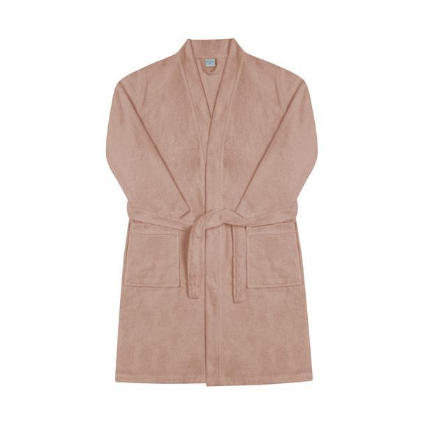 Nuvomon Kadın Kimono Bornoz - Pudra - L / XL