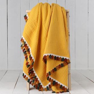 Lumiyard 4 Kat Müslin Örtü - Sarı - 120x150 cm