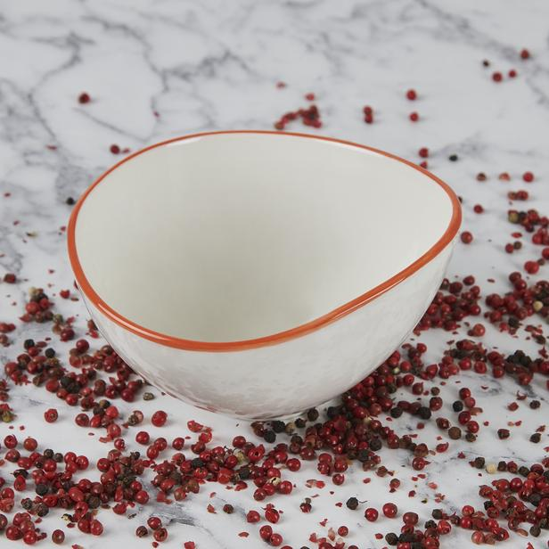 Tulu Porselen Kase - Turuncu - 15 cm